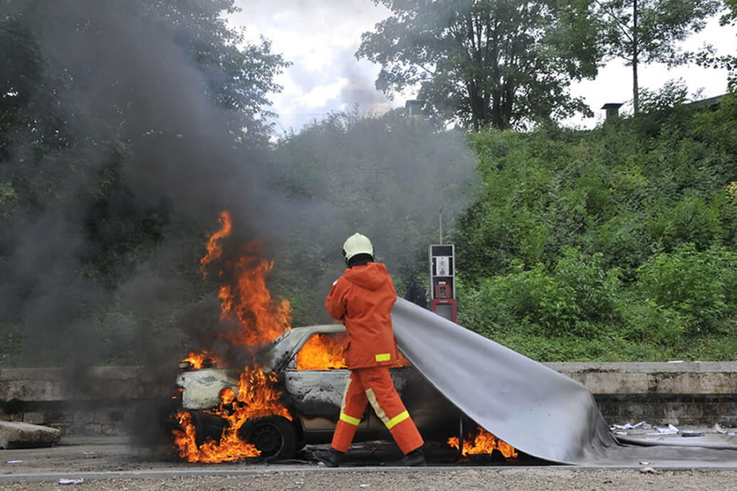 Fire blankets for Vehicles
