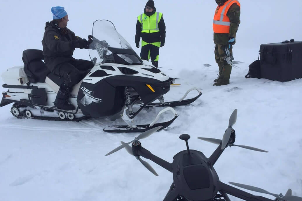 Angry winters force drones to the rescue