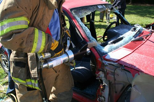 cars during extrication from road traffic collisions