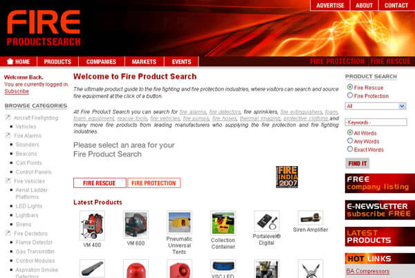 original-fire-product-search-website