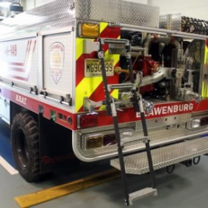 Swing Out & Down Vehicle Ladders