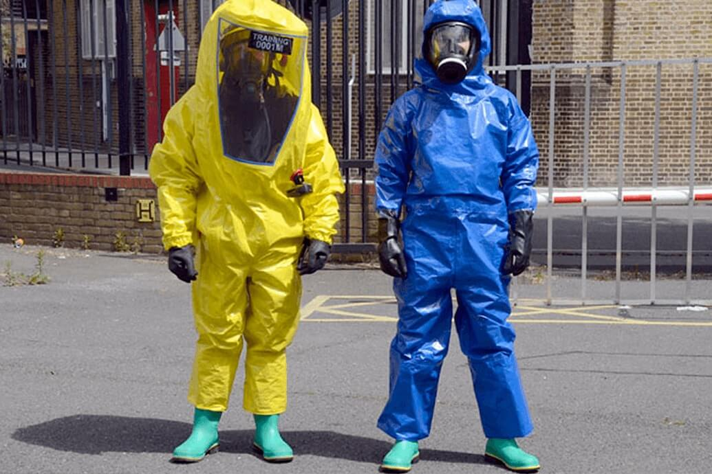 New chemical suits against hazardous materials