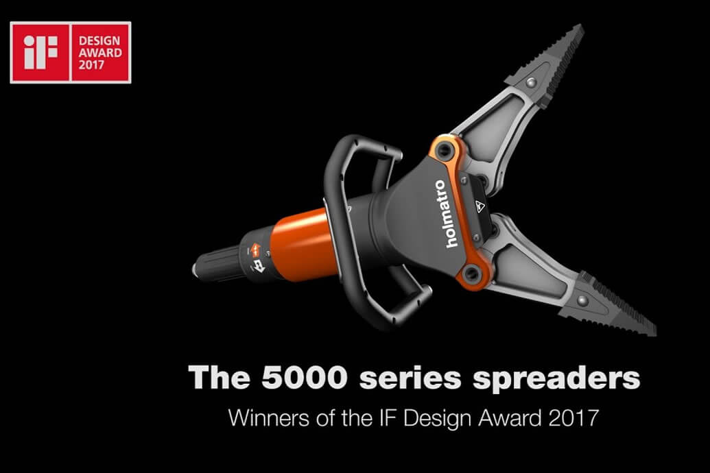 iF DESIGN AWARD for Holmatro Spreaders