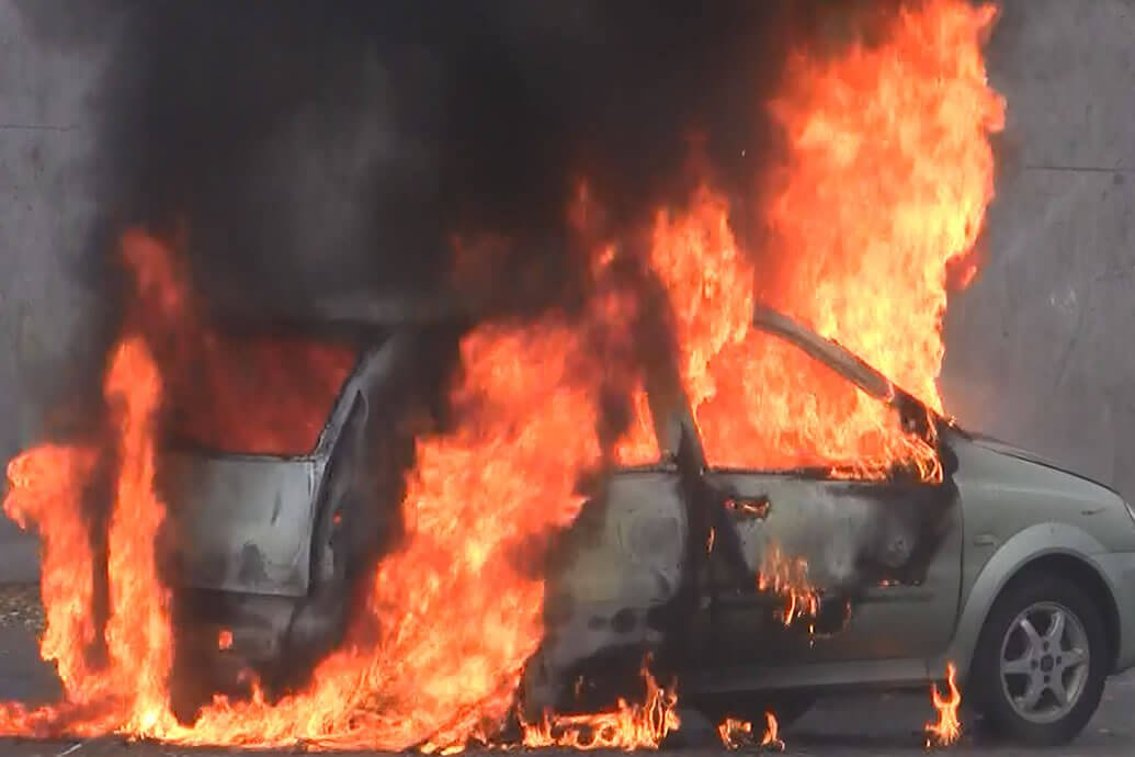 Full Scale Electric Vehicle Fire Test