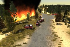 Simulation training for wildfires