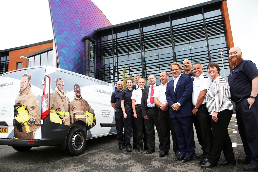 Ballyclare van presented to Leicestershire F&R