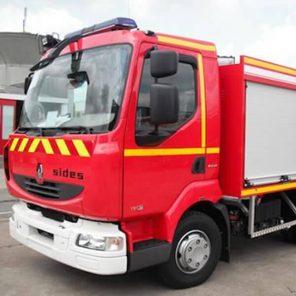 Sides Road Emergency Vehicle