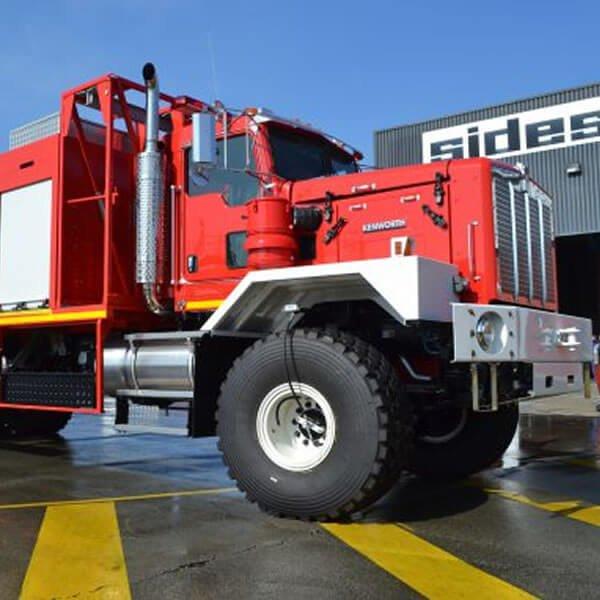 Sides Stentor Deltaflow Firefighting Truck