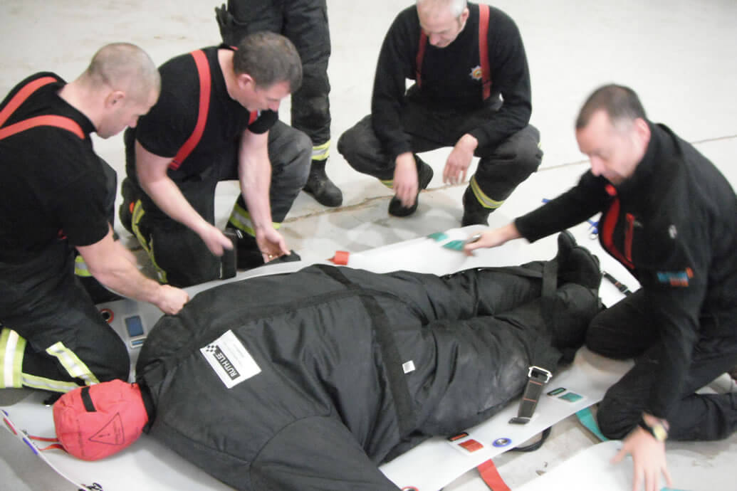 Firefighters & Ambulance Crews Practise Obese Rescues