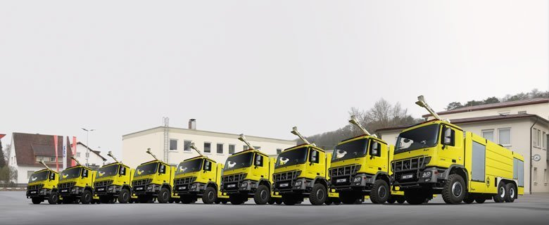 ZIEGLER Delivers 9 Tank Fire Trucks to Libya