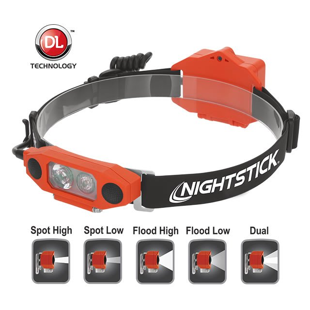 DICATA XPP-5462RX Low-Profile Dual-Light Headlamp