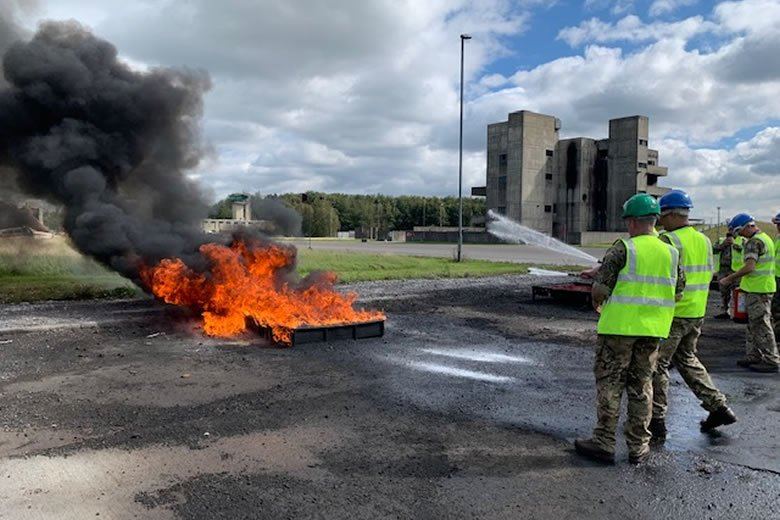 First Defence firefighter training courses begin at the Fire Service College