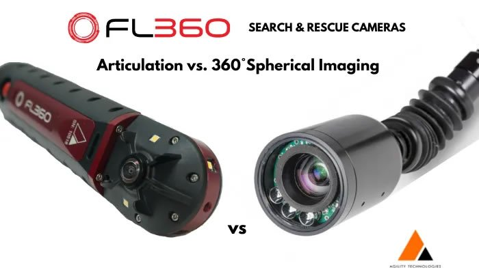 Articulation vs. 360° Spherical Imaging Search & Rescue Cameras