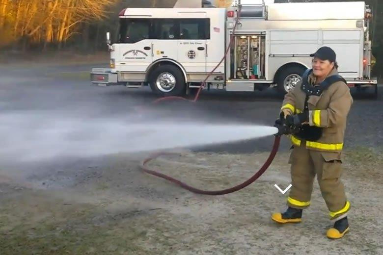 Aqua Blaster Firefighting Hose Carrier